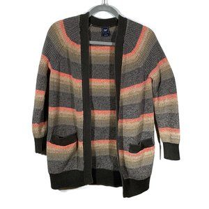 Gap Multi-Color Striped Open Front Cardigan Size S
